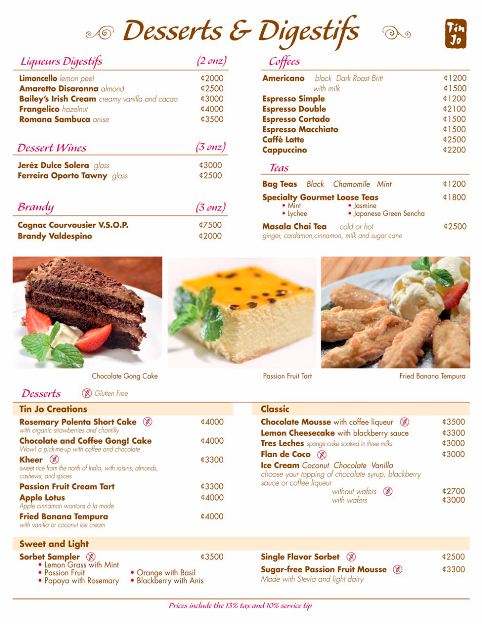 Our Menu Exquisite Asian Food Dishes Tin Jo Restaurant # Muebles Urgelles